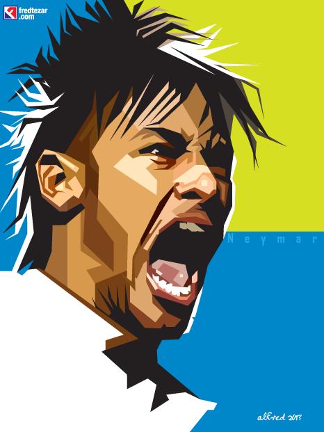 Neymar Skinetone Project Vector