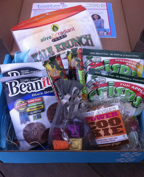 Tasterie Snack Box - September 2012 Review - Monthly Food Allergy Subscription Boxes
