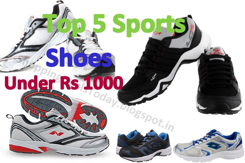 Top 5 Best Selling Sports Shoes Under 1000