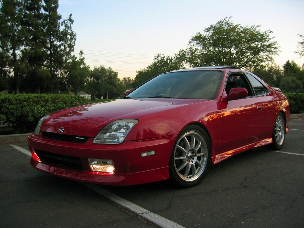 Red Honda Prelude Front