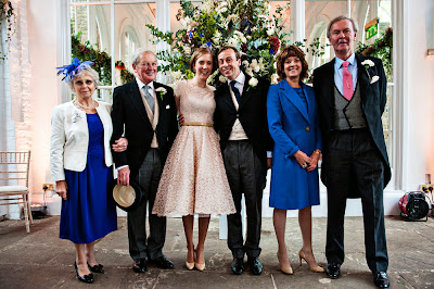 Vintage wedding blog c Heavenly Vintage Brides, Leo surrounded by her family