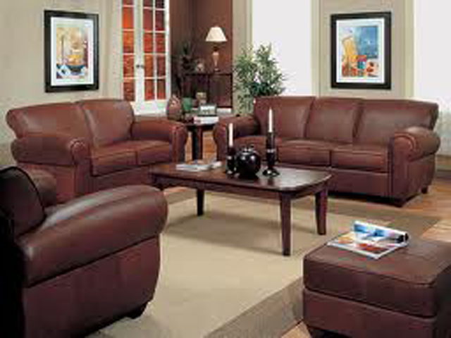 Brown Leather Living Room Furniture