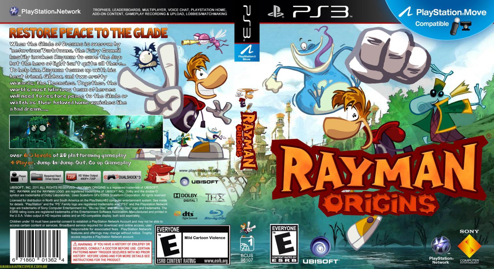 Capa Rayman Origins PS3