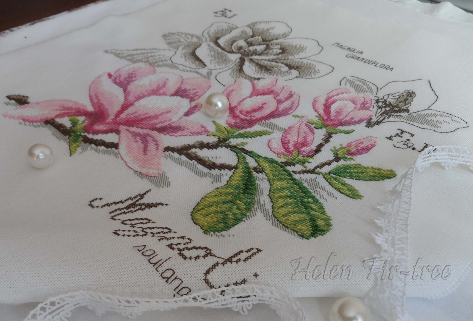 Helen Fir-tree вышивка крестом магнолия counted cross stitch magnolia