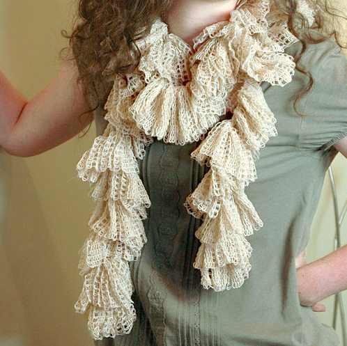 Crochet Ruffle Scarf Ribbon Yarn Only New Crochet Patterns
