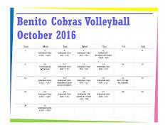 Cobras Sport Schedule
