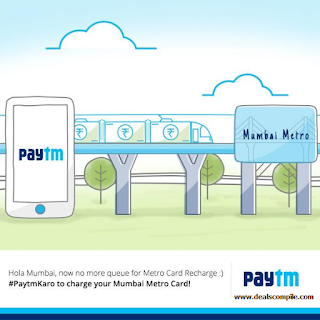 Paytm - Mumbai Metro Smart Card Recharge of Rs. 100 and Get Rs. 100 Cashback