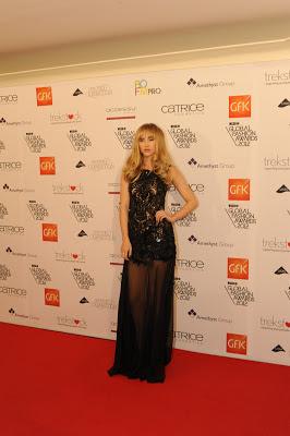 Suki Waterhouse in long black dress