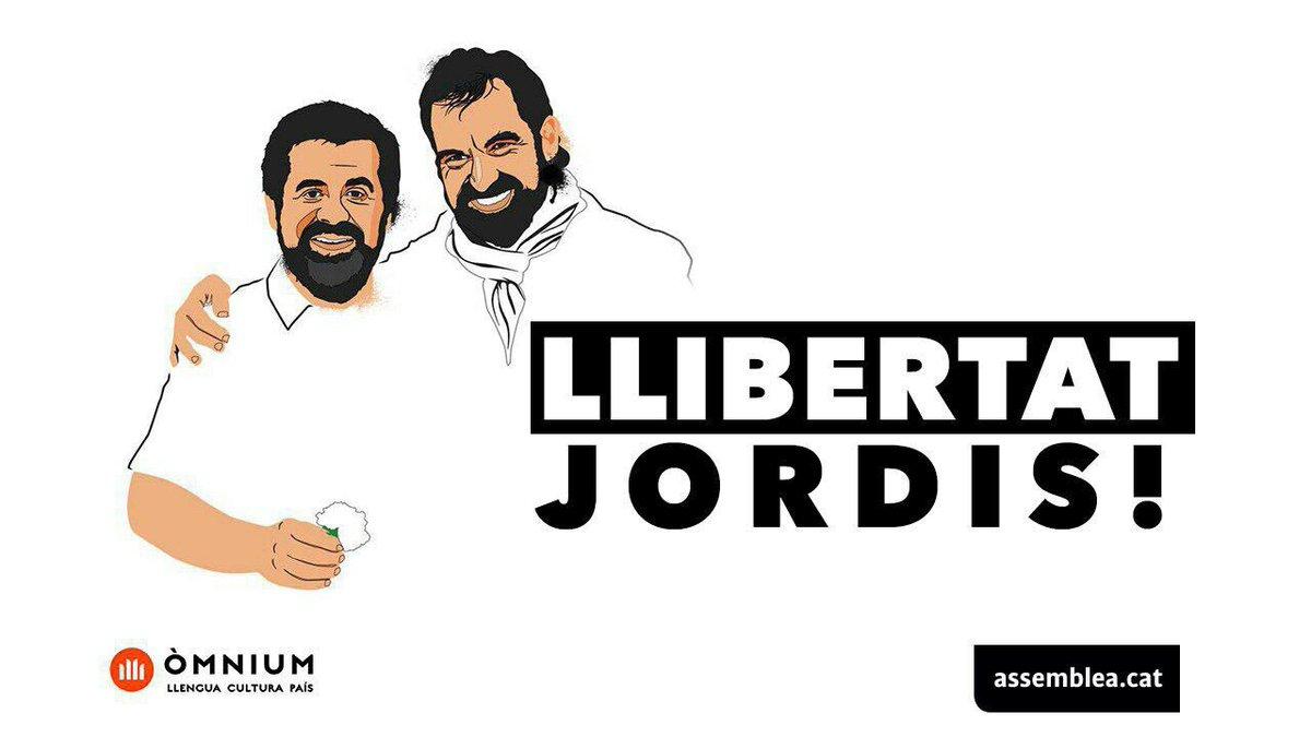 MANIFESTACIÓ NACIONAL: LLIBERTAT JORDIS, avui dimarts 17 d'octubre #LlibertatJordis