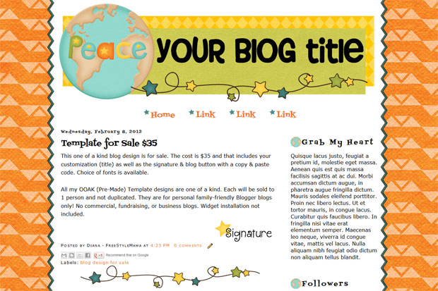 blog design for sale