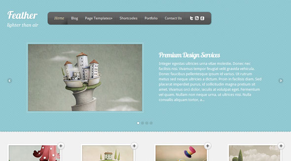 Feather Wordpress Theme Free Download by ElegantThemes.