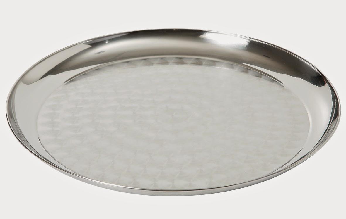 tava rotunda din otel cromat pentru servire, diferite dimensiuni, tavi profesionale, www.amenajarihoreca.ro