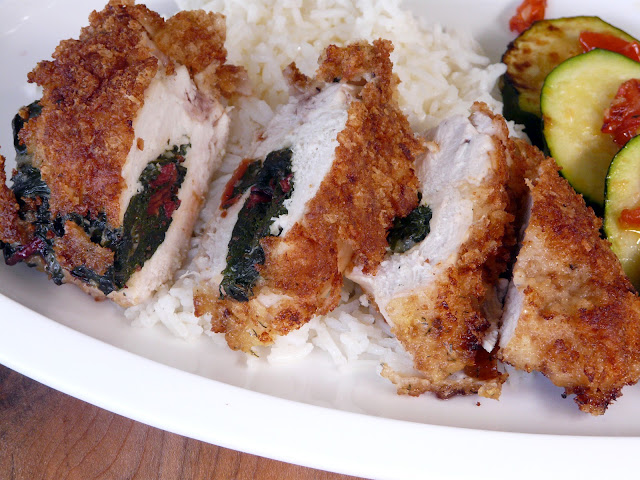 Thibeault's Table: Chard and Feta Stuffed Chicken Breasts