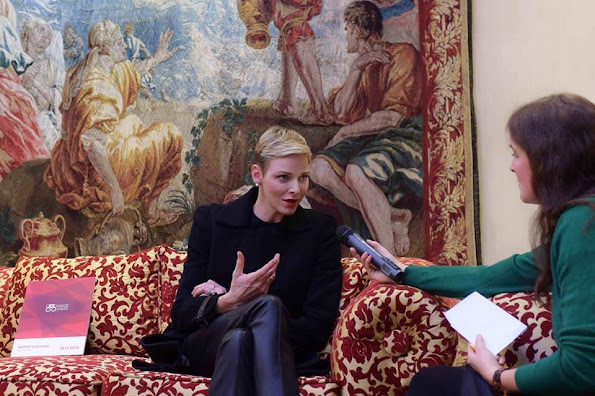 Princess Charlene and Prince Albert II of Monaco attended the Conference of the Healthcare Workers in the field of health which was held in Vatican City, Vatican