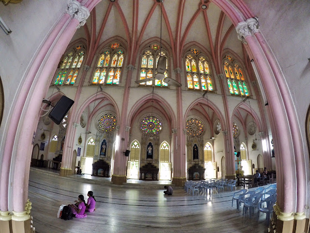 Our Lady of Lourdes Church Tiruchirappalli trichy inside view