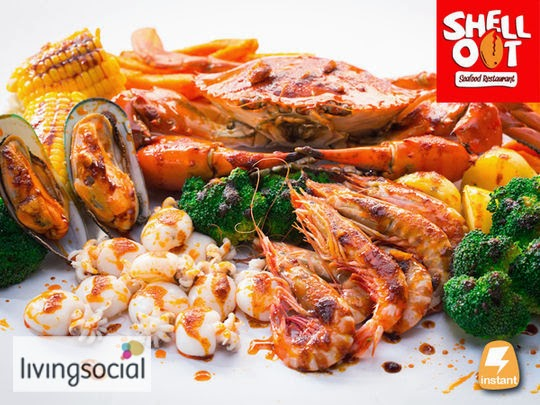 Eat Delicious CRAB with bare hand @ Shell Out Seafood ...