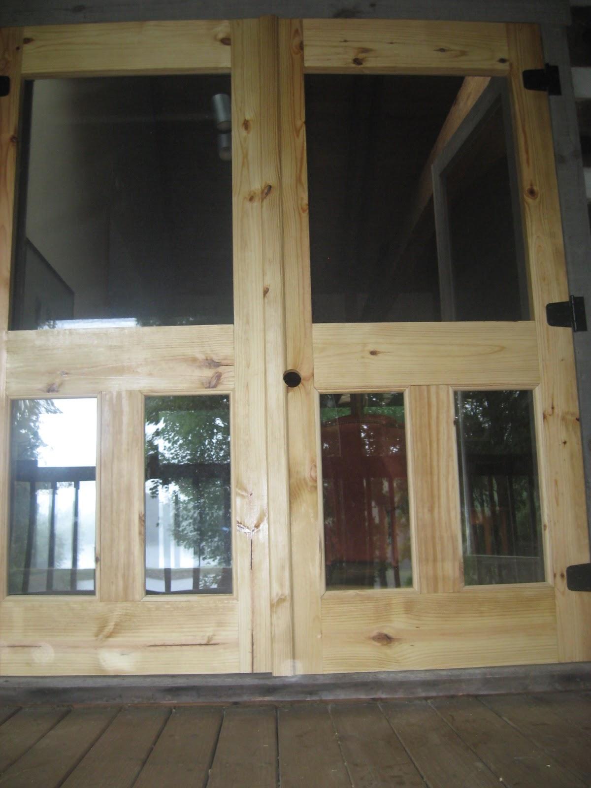 Dufour woodworks custom screen doors with plexiglass panels for Custom screen doors