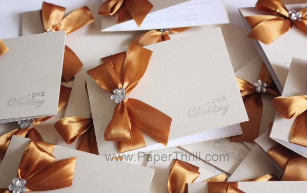 Elegant glamour wedding invitation cards