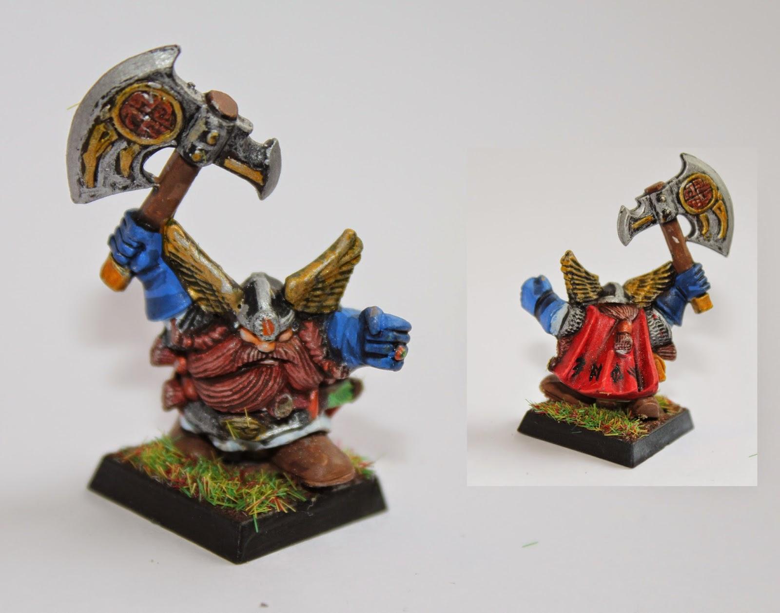 Warhammer Dwarf Hero painted