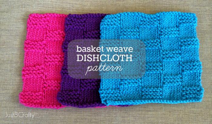 Knitting Basket Weave Pattern : Basket Weave Dishcloth Pattern