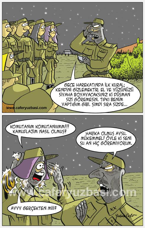 gece eğitimi-Kadinlar Asker Olursa?