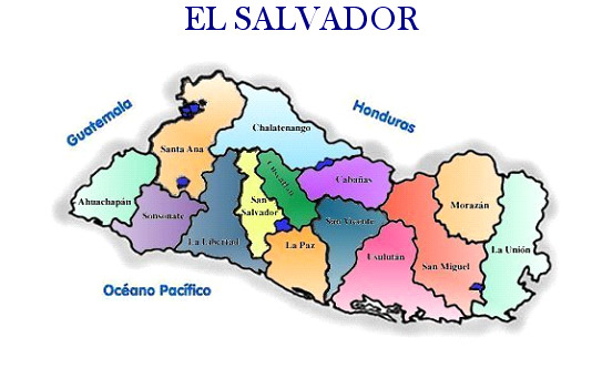Pueblos Vivos EL MAPA DE EL SALVADOR