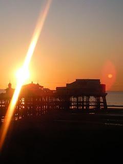 Blackpool balcony sunset