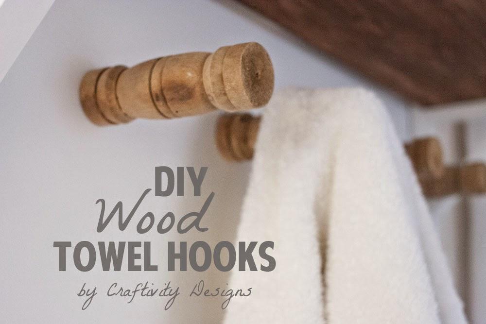 Craftivity Designs DIY Wood Towel Hooks
