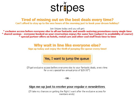 Stripe subscription for TigerAirways