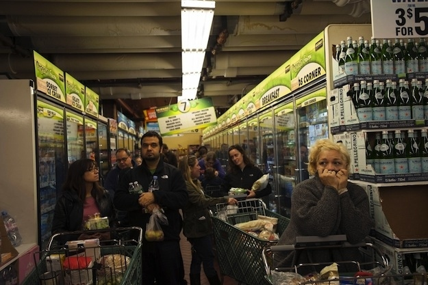 Hurricane Sandy Inspired Grocery Store Madness Damn Cool