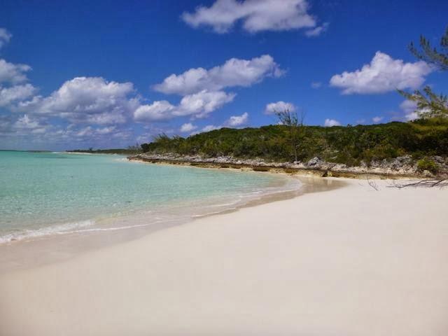 nude beach bear gorgetown exumas bahamas flip flop beach