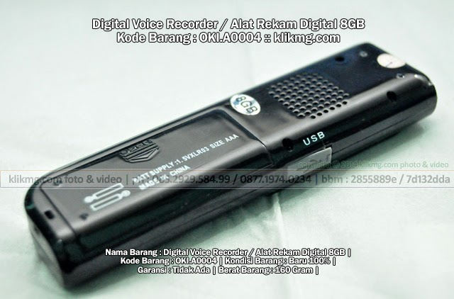 Digital Voice Recorder / Alat Rekam Digital 8GB - Kode Barang : OKI.A0004