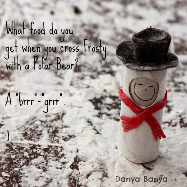 "What food to you get when you cross Frosty with a Polar Bear? A ""brr""-""grr"". :)"