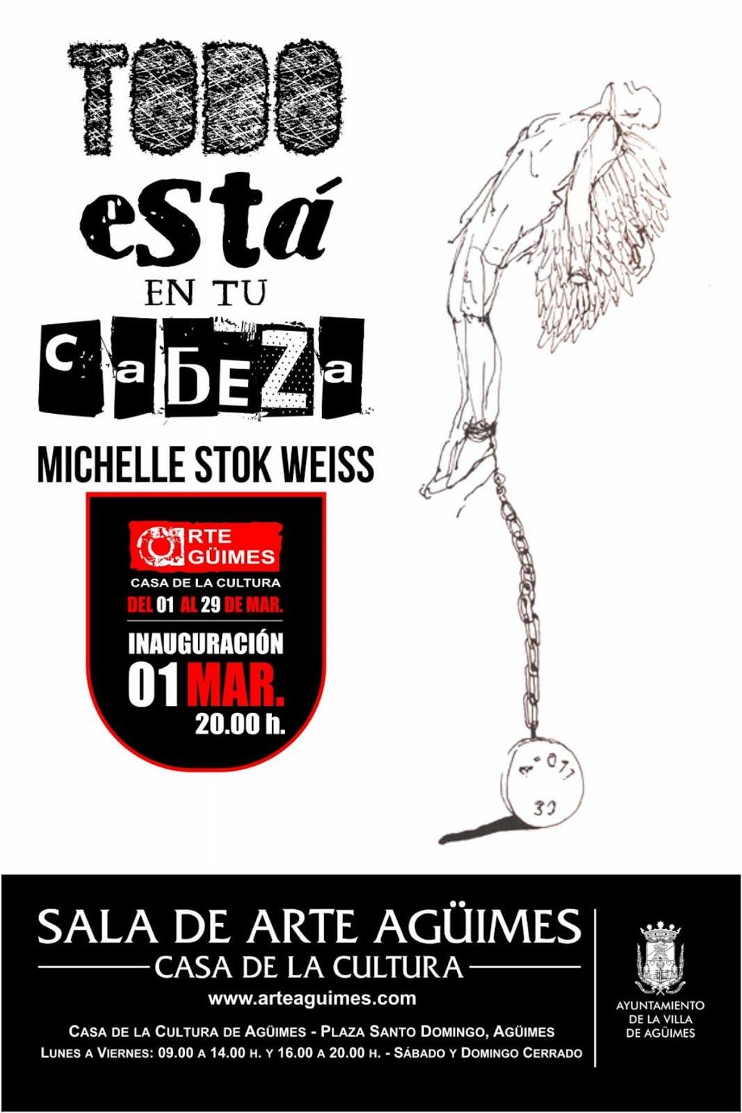 Michelle Stok Weiss en la Sala de Arte Agüimes