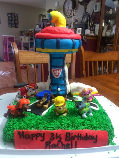 Working Mom Wonders Paw Patrol Birthday Cake With Marshmallow Fondant