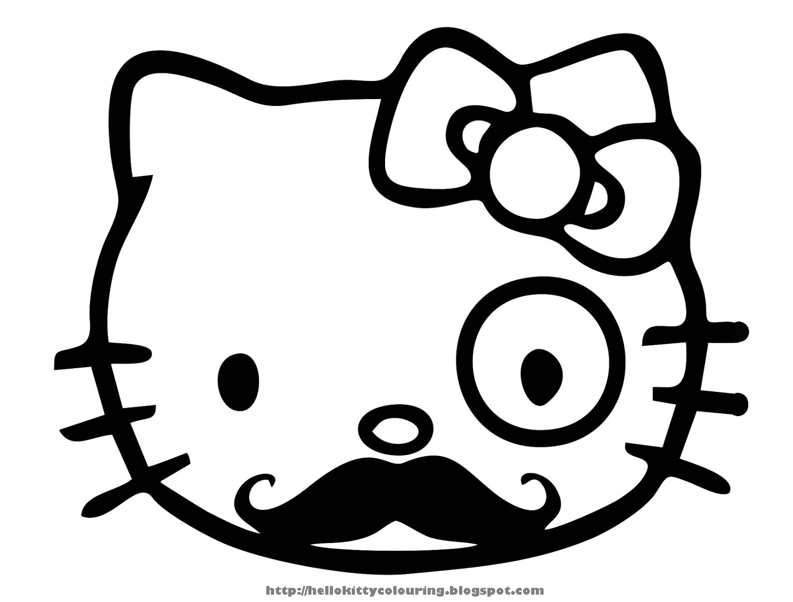 pretty hello kitty coloring pages - photo#12