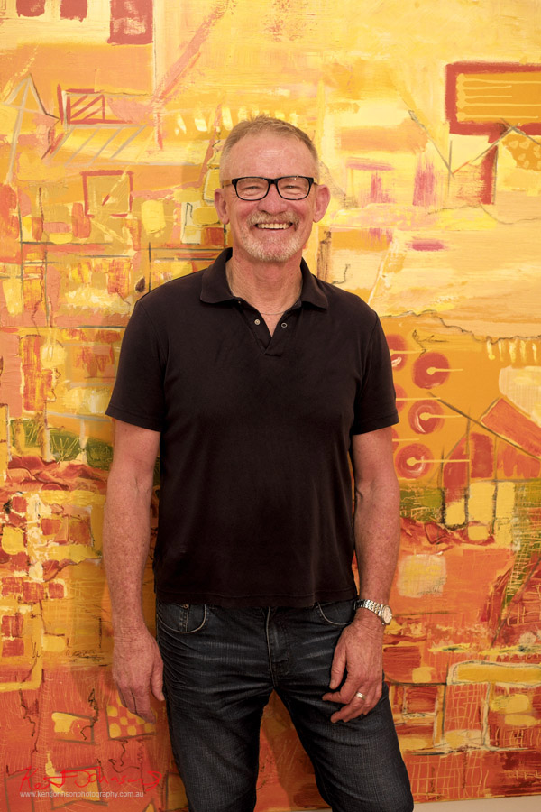 Tony Williams painter - Artist portrait by Kent Johnson, Lennox St Artists Studios, Newtown Sydney Australia.