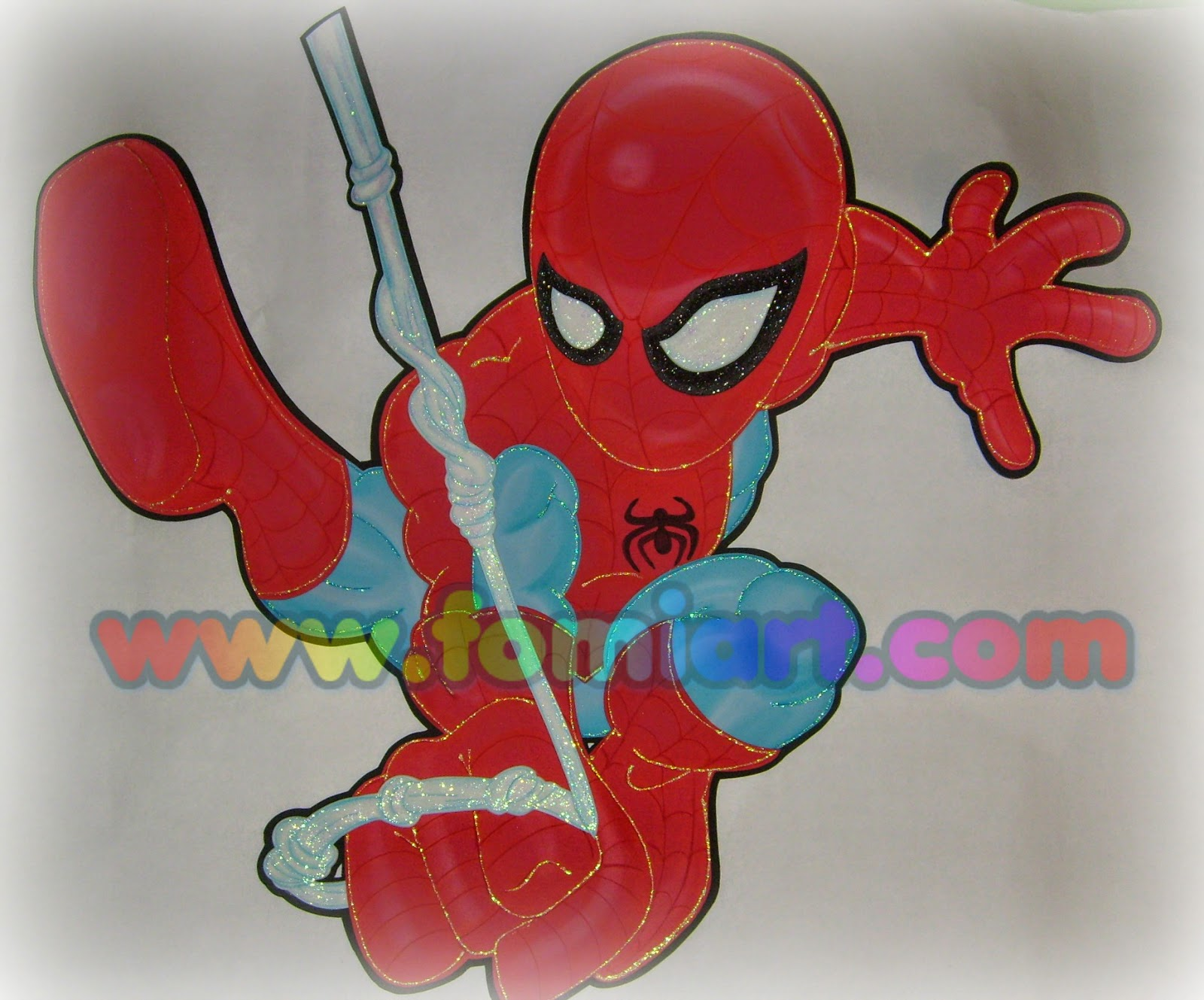 decoracion en fomi spiderman