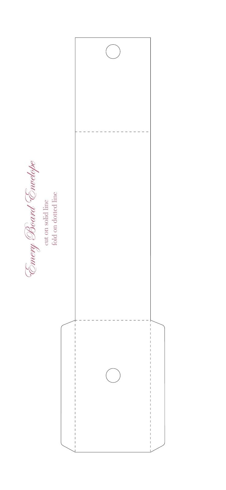 Kell belle studio emery board envelope for Legal size envelope template