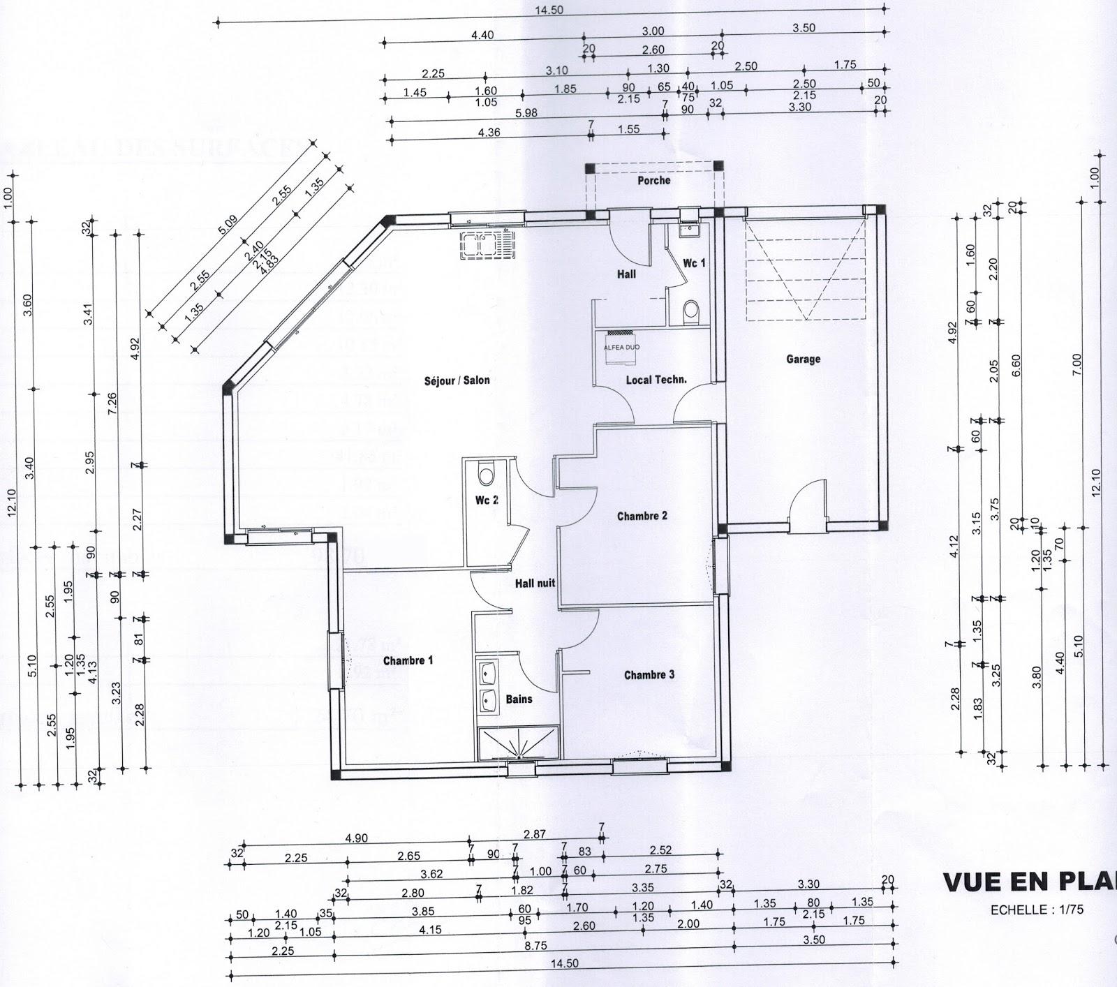 Plan définitif maison oc résidences dossier du permis de construire