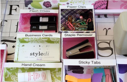 Organize your desk with diy boxes coffee a clever idea for How to organize your desk diy