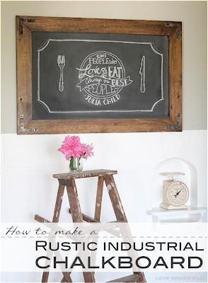DIY Rustic Kitchen Chalkboard Tutorial