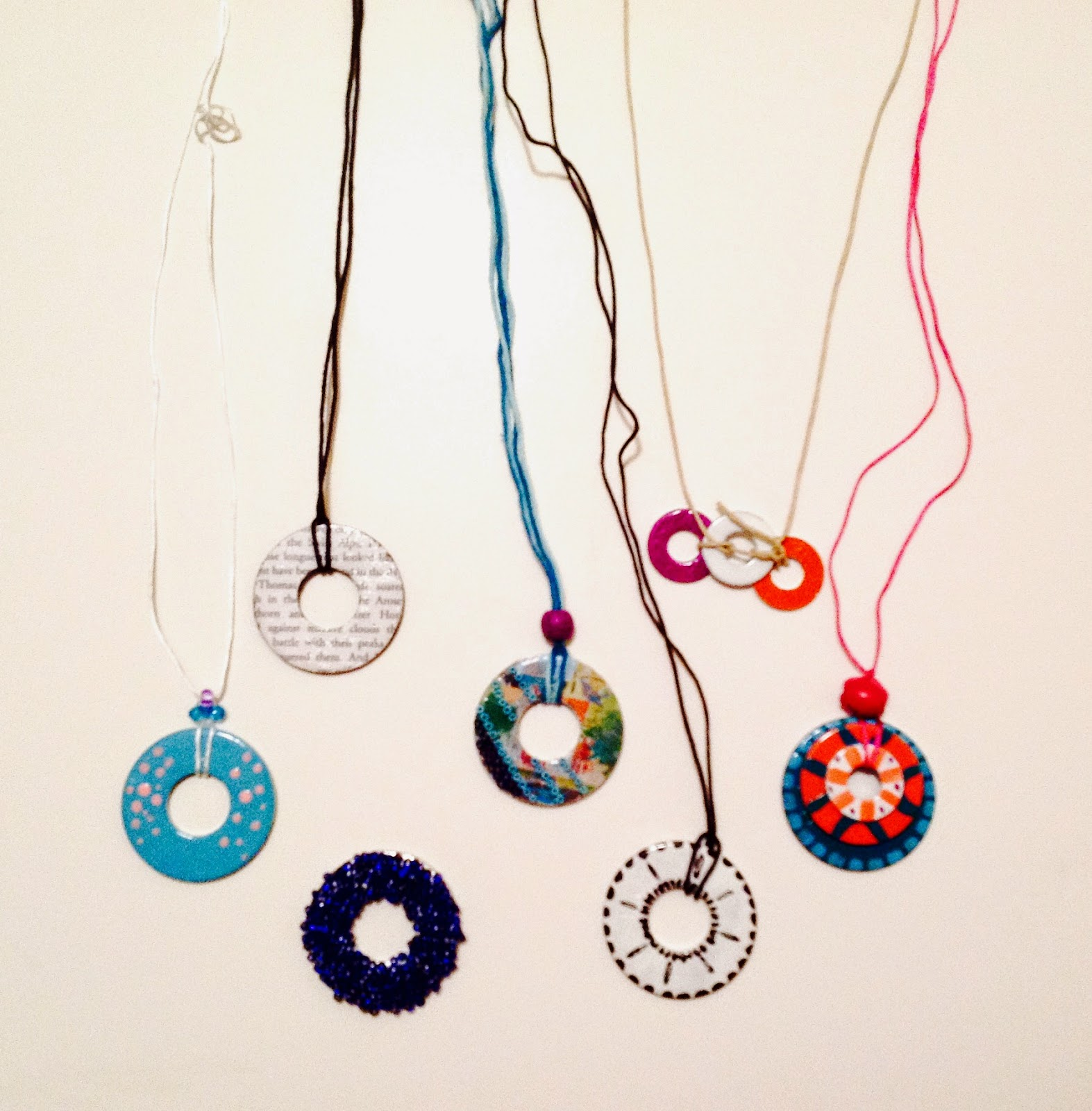 necklace diy fun washer a be mum