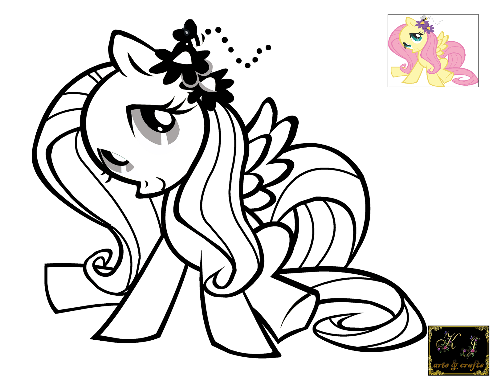 kj coloring pages fluttershy