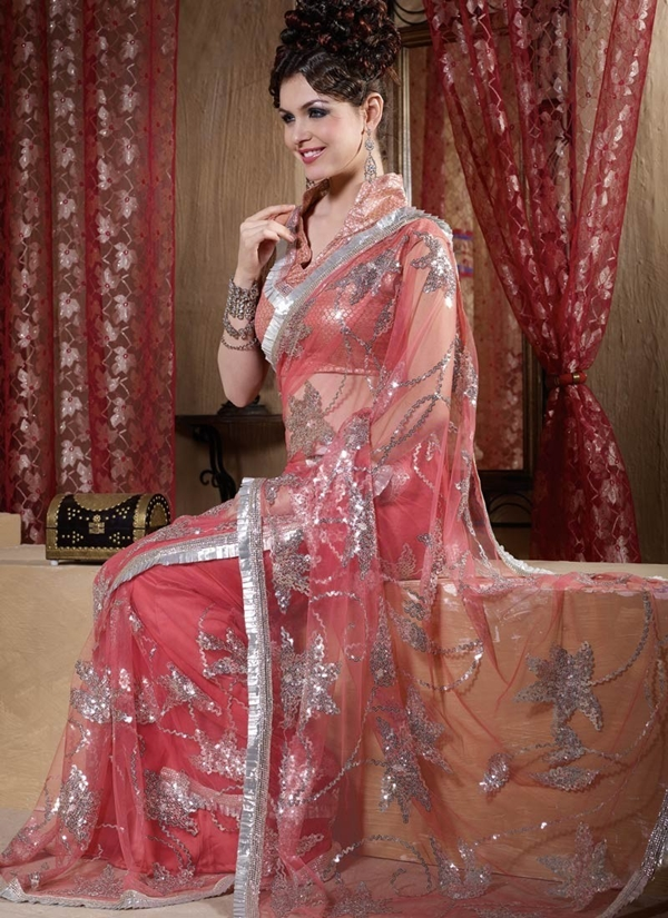 models in saree