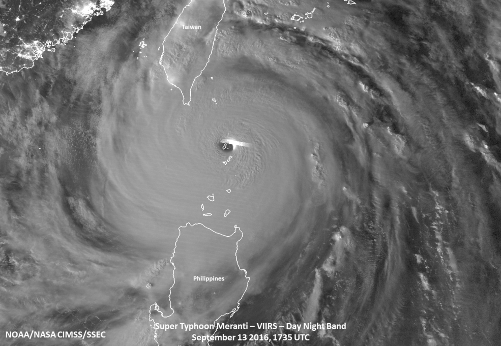 Monster! The strongest storm in the world this year Super Typhoon Meranti has landed on mainland Ch