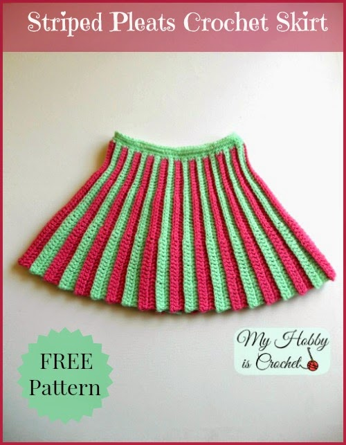 Free Crochet Patterns Baby Shower Favors : My Hobby Is Crochet: Pleated Mini Skirt, Toddler Size ...