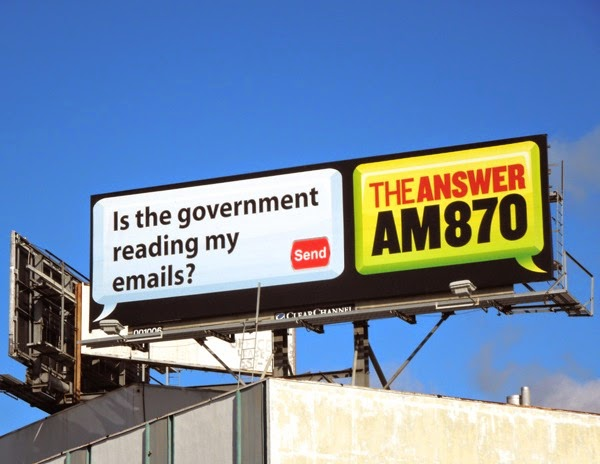 Is the government reading my emails? AM 870 The Answer billboard