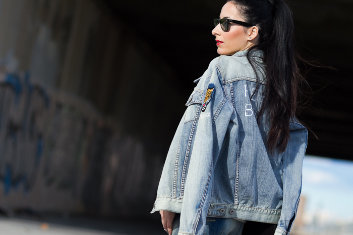 Bouble Denim Jacket and Jeans Meltin' Pot Fashion Blogger withorwithoutshoes