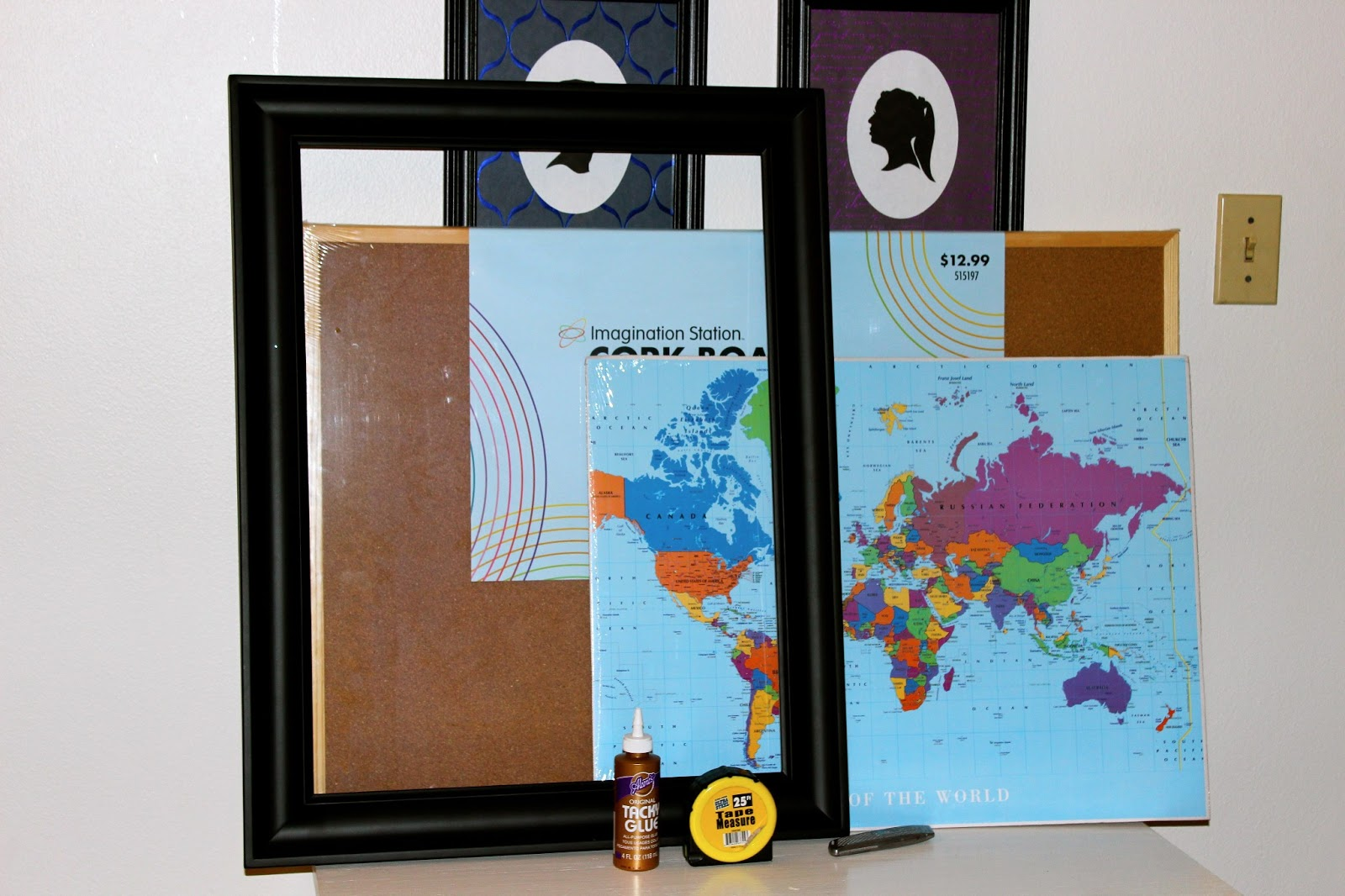 Starry eyes coffee cups oh the places youll go world map cork oh the places youll go world map cork board diy gumiabroncs Gallery